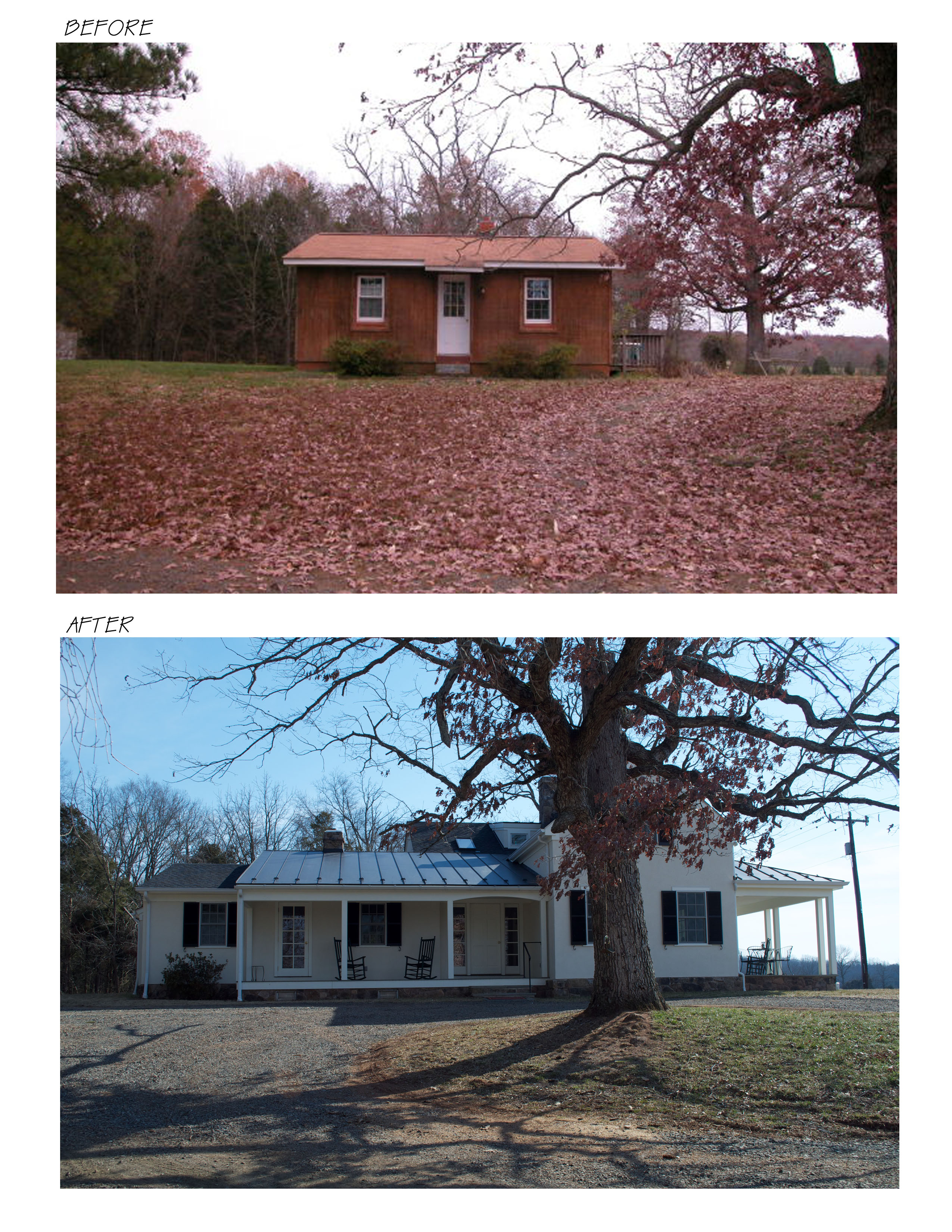 Check out the Before and After of the front facade!